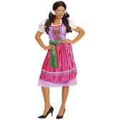 Disfraz con dirndl rosa-verde para mujer talla grande