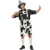 Lederhosen de vaca para hombre talla grande