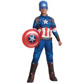Disfraz de Capitán América Vengadores: La Era de Ultrón deluxe para niño