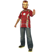 Kit disfraz Iron Man Vengadores: La Era de Ultrón para niño