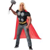 Kit camiseta y capa de Thor para adulto