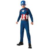 Disfraz de Capitán América comic para niño en blister
