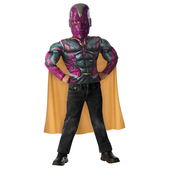 Kit disfraz Visión Los Vengadores La Era de Ultrón musculoso para niño