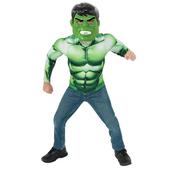 Kit disfraz Hulk musculoso para niño