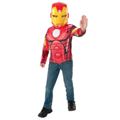 Kit disfraz Iron Man musculoso para niño