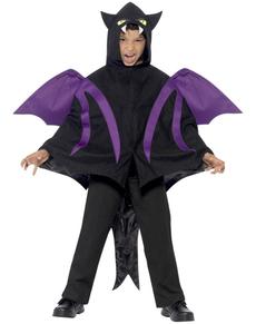 Capa de murciélago deluxe para niño