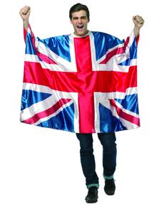 Disfraz de bandera de Reino Unido para hombre