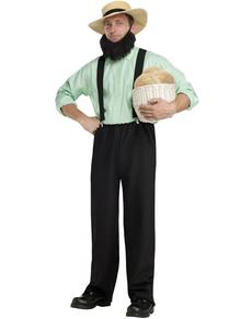 Disfraz de amish americano de campo para adulto