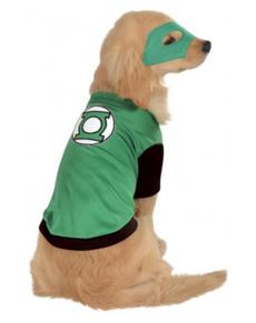 Disfraz de Linterna Verde para perro