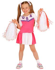 Disfraz de animadora americana para niña
