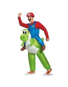 Disfraz Mario Bros ride on Yoshi para adulto