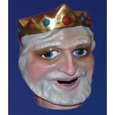 Cabezudo infantil rey blanco