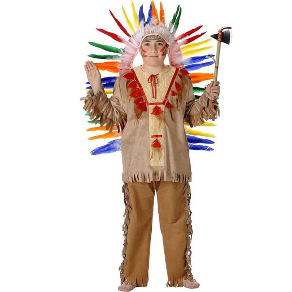 Como hacer un traje de indio para niño - Imagui
