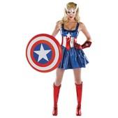 Disfraz de Capitán América mujer