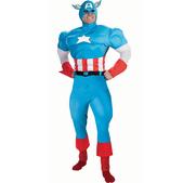 Disfraz de Capitán América musculoso