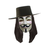 Peluca negra de V de Vendetta
