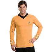 Disfraz de Star Trek Capitán Kirk clásico dorado