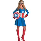 Disfraz de Capitán América Woman Classic