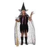 Disfraz de bruja con capa para niña