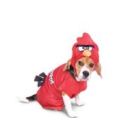 Fato de Angry Birds vermelho para cão