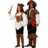 Disfraz de pirata lujo mujer
