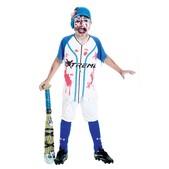 Fato de jogador de beisebol zumbi para menino