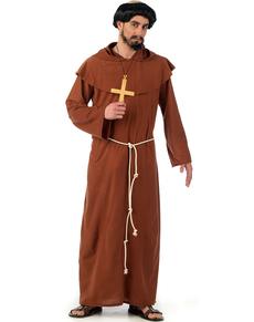 Disfraz de monje franciscano medieval