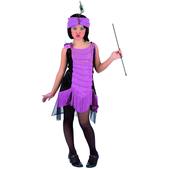 Disfraz de charlestón morado para niña